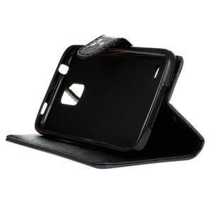 Knížkové PU kožené pouzdro na Samsung Galaxy S5 - nedotýkej se mého telefonu - 4