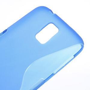 S-line gelový obal na mobil Samsung Galaxy S5 - modrý - 4