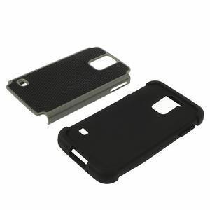 Odolný obal 2v1 na mobil Samsung Galaxy S5 - šedý - 4