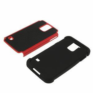 Odolný obal 2v1 na mobil Samsung Galaxy S5 - červený - 4