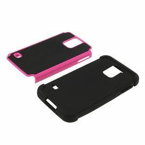Odolný obal 2v1 na mobil Samsung Galaxy S5 - rose - 4