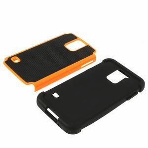 Odolný obal 2v1 na mobil Samsung Galaxy S5 - oranžový - 4