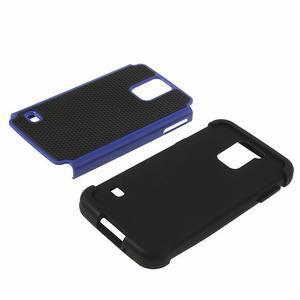 Odolný obal 2v1 na mobil Samsung Galaxy S5 - modrý - 4
