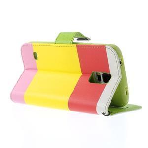 Colory PU kožené pouzdro na mobil Samsung Galaxy S5 - variant I - 4