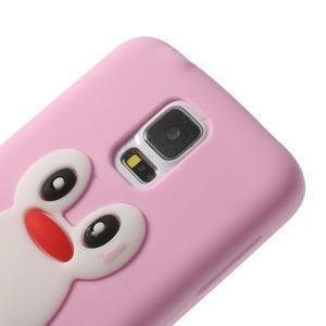 Penguin silikonový obal na Samsung Galaxy S5 - růžový - 4