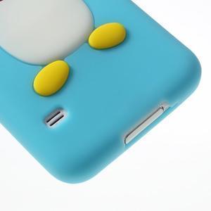 Penguin silikonový obal na Samsung Galaxy S5 - světlemodrý - 4