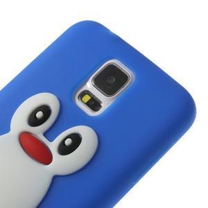 Penguin silikonový obal na Samsung Galaxy S5 - modrý - 4