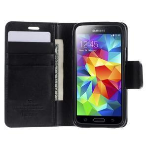 Sonata PU kožené pouzdro na Samsung Galaxy S5 mini - černé - 4