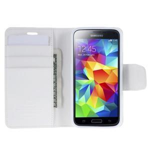 Sonata PU kožené pouzdro na Samsung Galaxy S5 mini - bílé - 4
