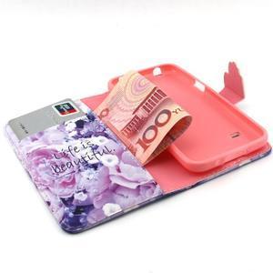 Peněženkové pouzdro na mobil Samsung Galaxy S5 mini -  květiny - 4