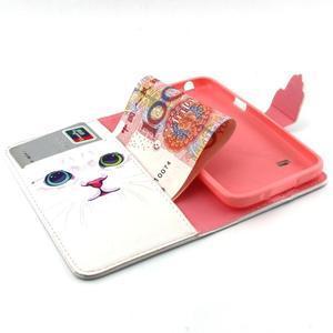 Peněženkové pouzdro na mobil Samsung Galaxy S5 mini - kočička - 4