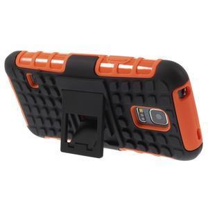 Outdoor odolný obal na mobil Samsung Galaxy S5 mini - oranžový - 4