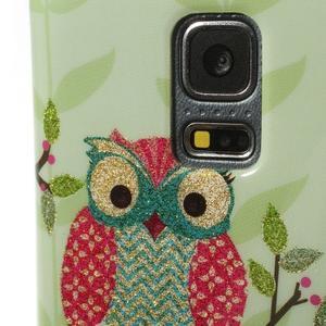 Owls gelový obal na Samsung Galaxy S5 mini - sovy na větvi - 4