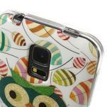 Owls gelový obal na Samsung Galaxy S5 mini - vykulená sova - 4/4