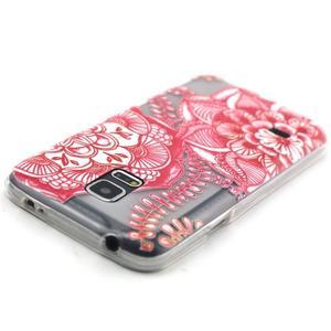 Transparentní gelový obal na mobil Samsung Galaxy S5 mini - mandala - 4