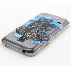 Transparentní gelový obal na mobil Samsung Galaxy S5 mini - slon - 4