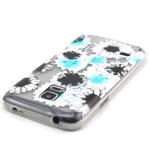 Transparentní gelový obal na mobil Samsung Galaxy S5 mini - sedmikrásky - 4