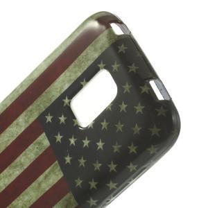 Softy gelový obal na Samsung Galaxy S5 mini - US vlajka - 4