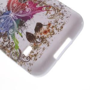 Softy gelový obal na Samsung Galaxy S5 mini - barevný motýl - 4