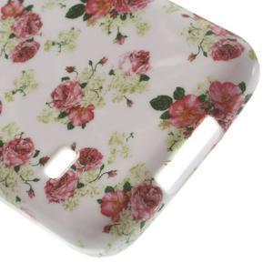 Softy gelový obal na Samsung Galaxy S5 mini - květinová koláž - 4