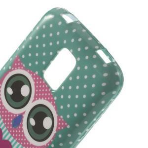 Softy gelový obal na Samsung Galaxy S5 mini - zamilovaná sova - 4