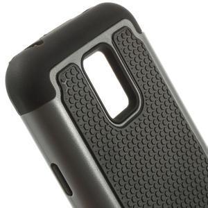 Odolný kryt 2v1 na mobil Samsung Galaxy S5 mini - šedý - 4