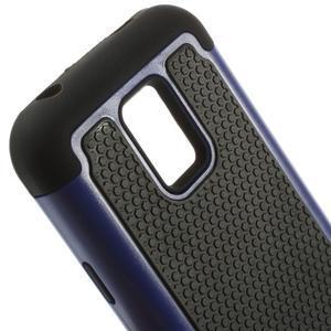 Odolný kryt 2v1 na mobil Samsung Galaxy S5 mini - tmavěmodrý - 4
