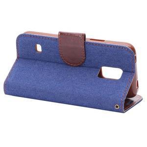 Jeans peněženkové pouzdro na Samsung Galaxy S5 mini - modré - 4