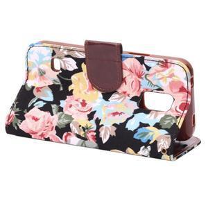 Květinové pouzdro na mobil Samsung Galaxy S5 mini - černé pozadí - 4