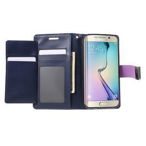 Richdiary PU kožené pouzdro na mobil Samsung Galaxy S6 Edge - fialové - 4