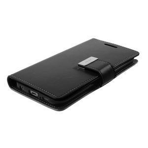 Richdiary PU kožené pouzdro na mobil Samsung Galaxy S6 Edge - černé - 4