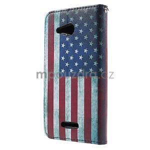 Peněženkové pouzdro na Sony Xperia E4g - USA vlajka - 4