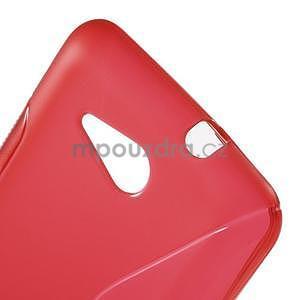 S-line gelový obal pro Sony Xperia E4g - červený - 4