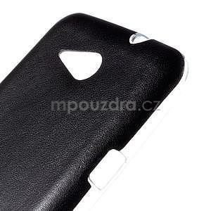Gelový obal na Sony Xperia E4g s koženkovými zády - černý - 4