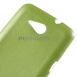 Gelový obal na Sony Xperia E4g s koženkovými zády - zelený - 4