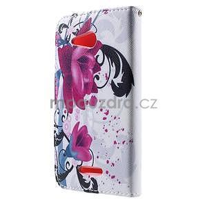 Peněženkové pouzdro na Sony Xperia E4g - květy - 4