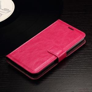 Horse PU kožené pouzdro na mobil Sony Xperia E4g - rose - 4
