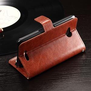 Horse PU kožené pouzdro na mobil Sony Xperia E4g - hnědé - 4