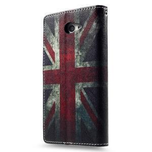 Standy peněženkové pouzdro Sony Xperia M2 Aqua - UK vlajka - 4