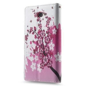 Standy peněženkové pouzdro Sony Xperia M2 Aqua - kvetoucí větvička - 4