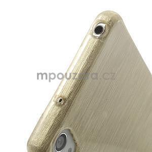 Broušený gelový obal na Sony Xperia Z2 - zlatý - 4