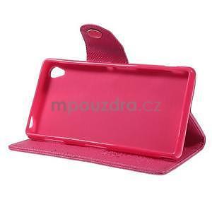 Rose peněženkové pouzdro na Sony Xperia Z3 - 4