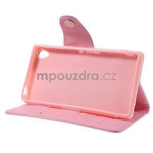 Růžové peněženkové pouzdro na Sony Xperia Z3 - 4