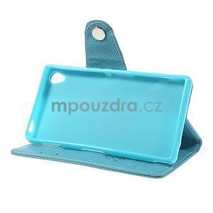 Tyrkysové peněženkové pouzdro na Sony Xperia Z3 - 4