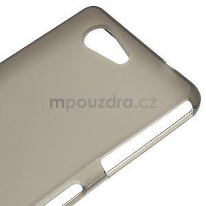 Šedý matný gelový obal na Sony Xperia Z3 Compact - 4
