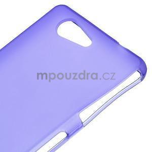 Fialový matný gelový obal na Sony Xperia Z3 Compact - 4