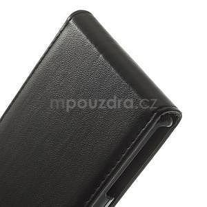 Černé flipové pouzdro na Sony Xperia Z3 Compact D5803 - 4