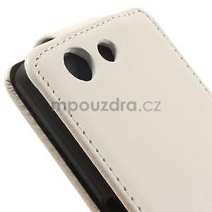 Bílé flipové pouzdro na Sony Xperia Z3 Compact - 4