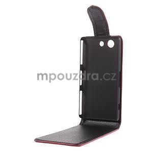 Červené flipové pouzdro na Sony Xperia Z3 Compact - 4