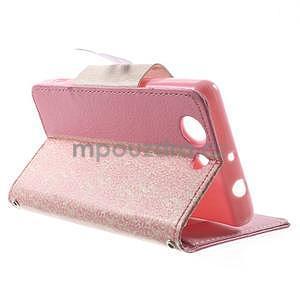 Zapinací pouzdro s mašličkou na Sony Xperia Z3 Compact - růžové - 4